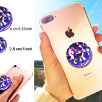 STICKER 3D Purple Crystal gemstone for POP out Grip Stand selfie HOLDER decal | eBay