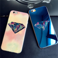 Case For iphone 5 5s SE 6 6s 6 plus City Street Diamond Stars Blu-ray Soft TPU Phone Back Cover Case