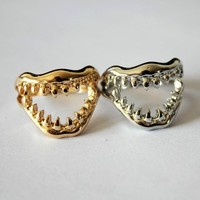 Teeth Shape Ring - OASAP.com