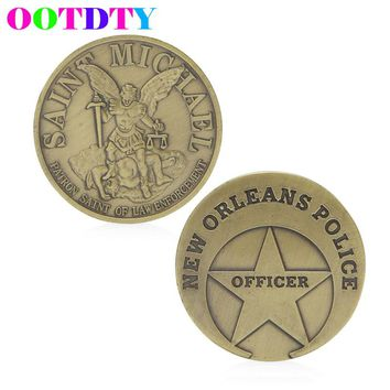 Saint Michael New Orleans Police Commemorative Coin Zinc Alloy Commemorative Coin Collection No-currency Coins