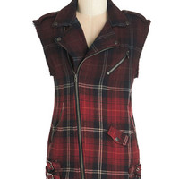 ModCloth 90s Mid-length Sleeveless Made to Moto Vest