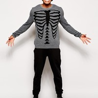 ASOS Halloween Sweater with Skeleton Design