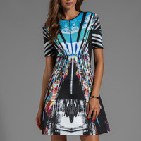 Clover Canyon Glacial City Neoprene Dress in Multi from REVOLVEclothing.com
