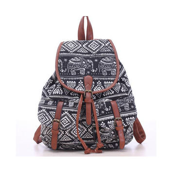 Hot Selling Women's Vintage Canvas Backpack National Ethnic Backpacks Girl Rucksack School Bag Bookbags Shoulder travel bag