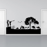 Australian background vinyl wall decal, wall sticker, decal, vinyl decal, image, home decor, sticker, graphic, wall art