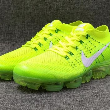 AUGUU 2018 Nike Air Max Vapormax MID Flyknit Fashion Running Shoes Green White