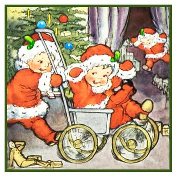 Vintage Christmas Santa Helpers Nimble Nicks # 22 Counted Cross Stitch or Counted Needlepoint Pattern