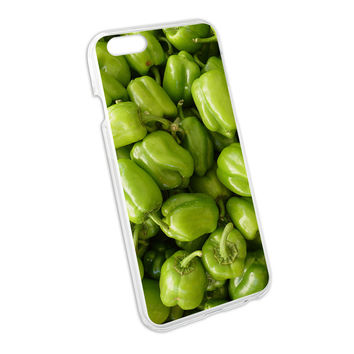 Green Bell Peppers Vegetables - Chef Farmer Snap On Hard Protective Case for Apple iPhone 6