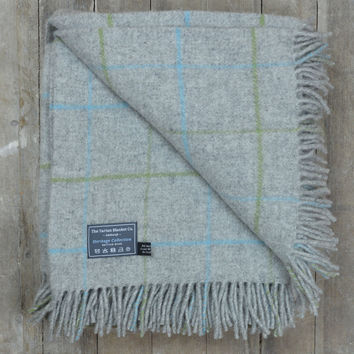 Lifestyle New Wool Blanket in Stone Overcheck