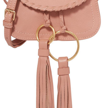 See by Chloé - Polly mini tasseled textured-leather shoulder bag