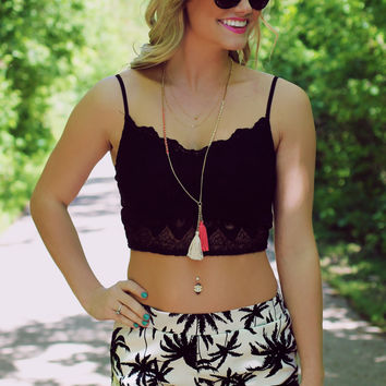 You and Me Forever Crop Top - Black