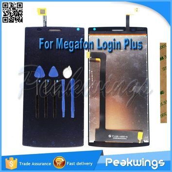 "5.5""inch 1280*720 Tested Quality Touch For MegaFon Login Plus LCD Display Screen MFLoginPh Login+ TOPSUN_G5247_A1"