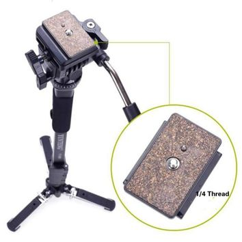 Professional C288 Monopod + Fluid Pan Head Ball + DV Unipod Mobile Phone Clip Holder For Canon Nikon DSLR Camera VCT-288