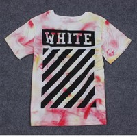 OFF WHITE Summer Short Sleeve T-shirts [11501030028]
