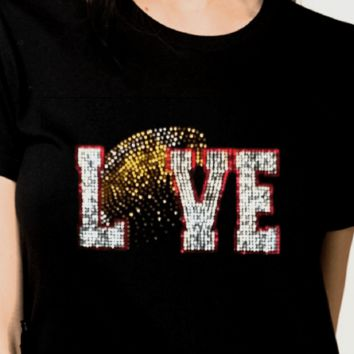 Rhinestones. Football Bling Shirt. Shop Collection's.