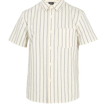 Bryan striped cotton shirt | A.P.C. | MATCHESFASHION.COM UK
