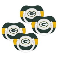 NFL Green Bay Packers 4 Pk Baby Pacifier - 3M+