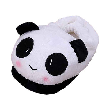ASDS Slipper Indoor Novelty for Lovers Winter Warm Slippers Lovely Cartoon Panda Soft Plush Household Thermal Shoes