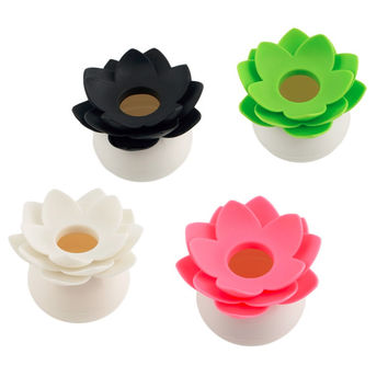 2016 New Lotus Cotton swab box lotus cotton bud holder base room decorate Lotus Toothpicks holder Toothpick case High Quality