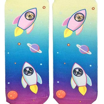 Blast Off Dogs Ankle Socks