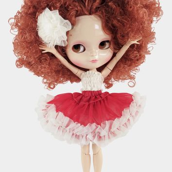 ANGELA Doll RED CURLY PERM 'ANNIE' incl. Dolly Fashion & Doll Carrier bag LIMITED EDITION