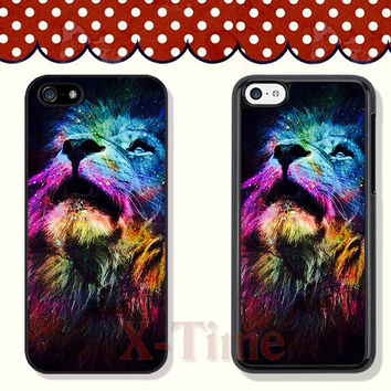 Lion, iPhone 5 case iPhone 5c case iPhone 5s case iPhone 4 case iPhone 4s case, Samsung Galaxy S3 \S4 Case--X51115