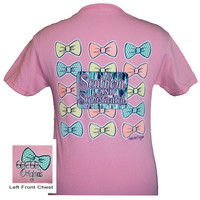 Girlie Girl Originals Southern & Sophisticated Multi Bow Pink Bright T Shirt