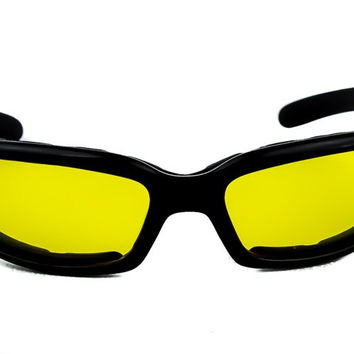 Yellow Lens Sunglasses Biker Motorcycle Riding Glasses