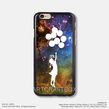 Nebula balloon girl Free Shipping iPhone 6 6Plus case iPhone 5s case iPhone 5C case 068