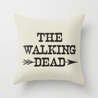 The Walking Dead Throw Pillow by Jeremy Jon Myers