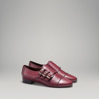 BURGUNDY BUCKLED MONK SHOE - View all - Shoes - WOMEN - United States of America / Estados Unidos de América