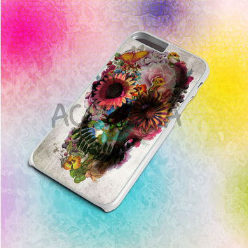 Flower Sugar Skull Pink Tumblr Day Of The Dead Custom - iPod case 4/5,iPhone case 4 to 6+,Samsung Galaxy case S3,S4,S5 & Note 2,3