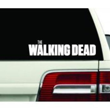 X2 WALKING DEAD logo zombies anime Resident Evil door car stickers decals Wall SEASON