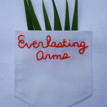 Everlasting Arms Embroidered Pocket Tee