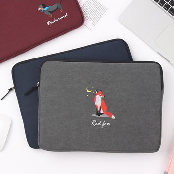 Tailorbird embroidery 15 inches laptop pouch case
