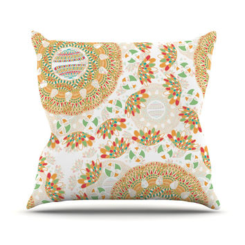 "Miranda Mol ""Bohemian Bright"" Geometric Multicolor Outdoor Throw Pillow"