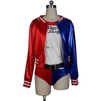 Firecos Suicide Squad Cosplay Harley Quinn Costume Outfit Suit Halloween Medium