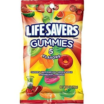 Life Savers 5 Flavors Gummies Candy Bag, 7 ounce (12 Packs)