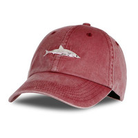 2017 Top Fashion Washed Baseball Cap Men Pink Shark Embroidery Dad Hat for Women gorras planas snapback dad bosco