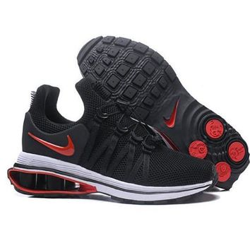 Nike Shox Gravity High Quality Newest Fashionable Men Personality Running Sport Shoes Sneakers Black/Red