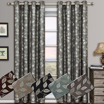 Charlotte Pair (Set of 2) Jacquard Grommet Window