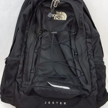 The North Face Jester Hiking Camping Black Backpack T196 T596