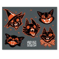 Spooky Cats Sticker Sheet