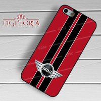 Mini Cooper Style Chili Red Black -end for iPhone 4/4S/5/5S/5C/6/6+,samsung S3/S4/S5/S6 Regular/S6 Edge,samsung note 3/4