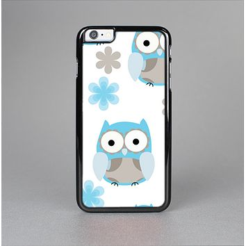 The Subtle Blue Cartoon Owls Skin-Sert for the Apple iPhone 6 Plus Skin-Sert Case