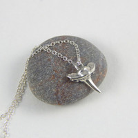 Silver shark tooth necklace, shark tooth necklace, shark necklace, nature necklace, tooth necklace, silver necklace, sterling silver, gift