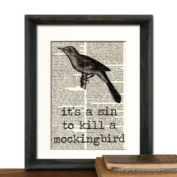 To Kill a Mockingbird Haper Lee Art Print by QuaintandCurious