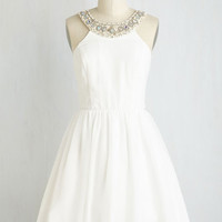 Love Makes the Twirl Go 'Round Dress in White | Mod Retro Vintage Dresses | ModCloth.com