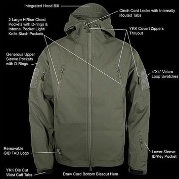 Outdoor Camouflage Hunting Clothes Sharkskin TAD Military Tactical Jacket Army Clothing Windproof Camping Hiking Sports Jackets