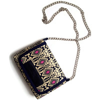 MAROL Cross body bag in diamond blue and pink